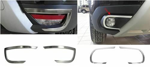 Biotto - Cubiertas de llanta para lámpara antiniebla y marco de deflector de escape de acero compatible con Dacia Duster 2018 +