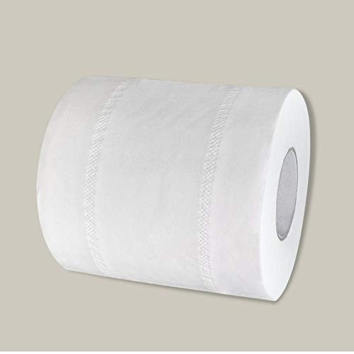 Ltjqsm 1 Rollo de Papel higiénico Sin Agente Fluorescente Stronge Suave 4-caply Hojas de baño Tisú de baño