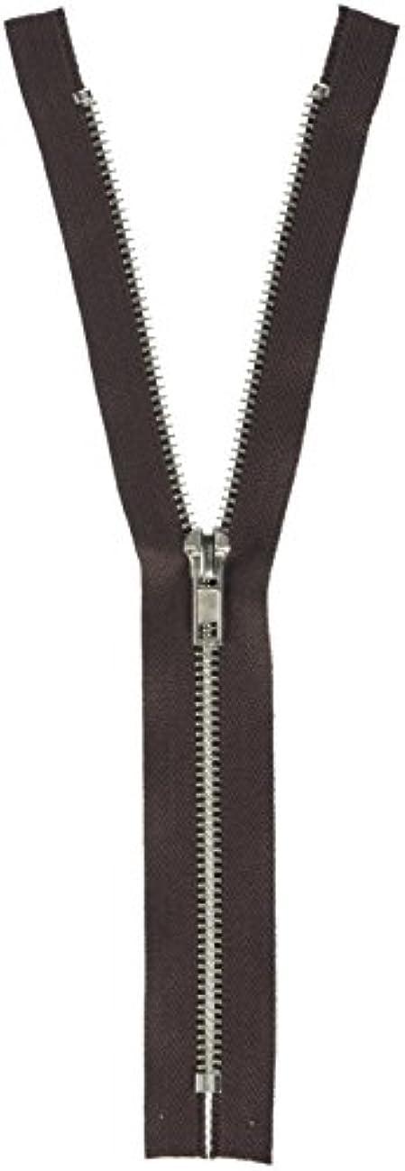 Korbond Metal Zip 25cm Brown