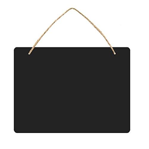 ROSENICE Kreidetafeln doppelseitig Deko Tafel mit Schnur zum Aufhängen (160209)