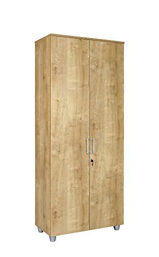 Aktenschrank Holz, Büro Schrank holz 80 cm x 40 cm x 190 cm Saphir Eiche