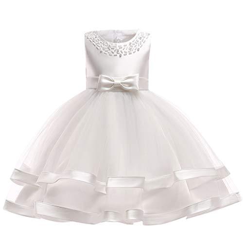Niñas Princesa Vestido Bebé Sin Mangas Vestido de Bautizo Vestido de Fiesta Boda Elegante Vestido de Bodas de Cumpleaños Vestido de Ceremonia 9-12 Meses