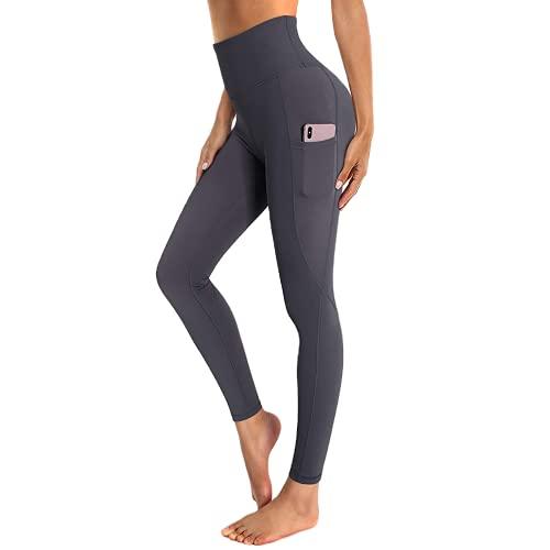 QTJY Leggings Deportivos de Cintura Alta para Mujer, Pantalones de Yoga, Mallas de Bolsillo para Entrenamiento de Moda, Pantalones Deportivos para Correr, Pantalones de Yoga DS