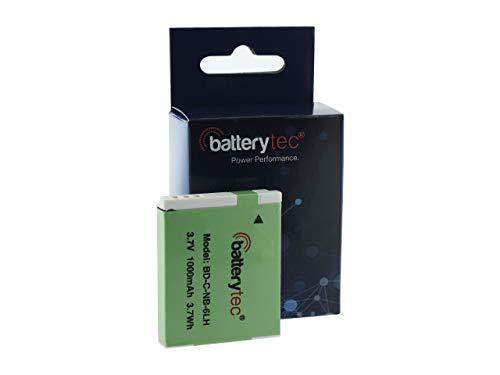 Batterytec Batería para Canon NB-6LH, Canon SX520 HS SX610 HS SX710 HS SX700 HS SX600 HS...