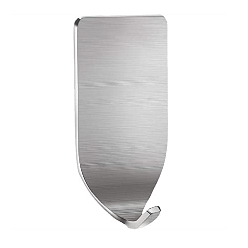 Paquete de 8 ganchos de ventosa para el hogar sin marcas y sin clavos, gancho de pared de acero inoxidable, gancho de pared de metal para baño, gancho individual y doble multifuncional para ropa