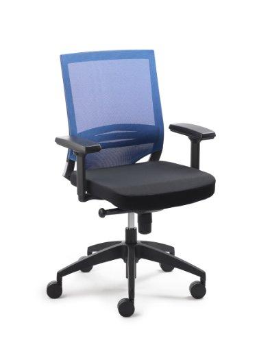 Preisvergleich Produktbild Mayer Sitzmöbel Drehstuhl MYoptimax Ohne Armlehnen,  Netzrücken Blau,  Polstersitz Schwarz