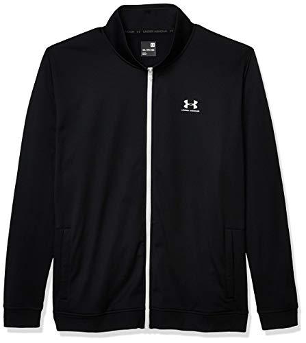 Under Armour Sportstyle Tricot Jacket Chaqueta con Cremallera, Hombre, Negro (Black/Onyx White), 2XL
