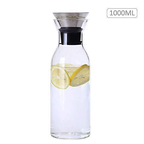 coil.c Waterkaraf, koelkaraf, glas-karaf, transparant, koude en warme ketelpul van borosilicaatglas voor restaurant thuis citroensap thee melk