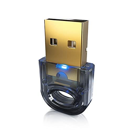 CSL - Bluetooth 5.0 USB Adapter Nano – BT V5.0 Stick Dongle – für PC Laptop - Bluetooth Empfänger und Sender für Desktop Laptop Drucker Headset Lautsprecher - kompatibel mit Windows 8.1 10
