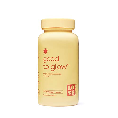 Love Wellness Good to Glow - Skin Care Supplement - Vitamin C, Collagen & Biotin – 60 Count - Supports Glowing, Clear Skin - Enhances Smoothness, Reduces Wrinkles - Safe & Effective Daily Supplement