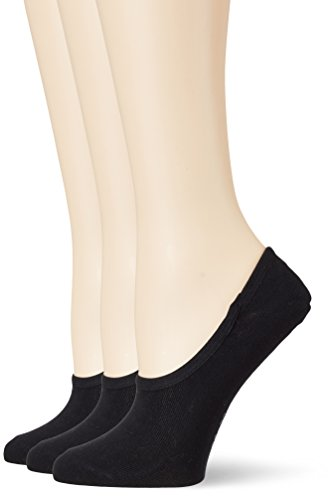 s.Oliver Socks Damen Unisex Fashion Footy 3p Füßlinge, Schwarz (Black 5), 39/42 (3er Pack)