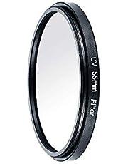 ニコンブラック55mm用キヤノン用カメラ紫外線紫外線フィルターレンズ保護フィルター