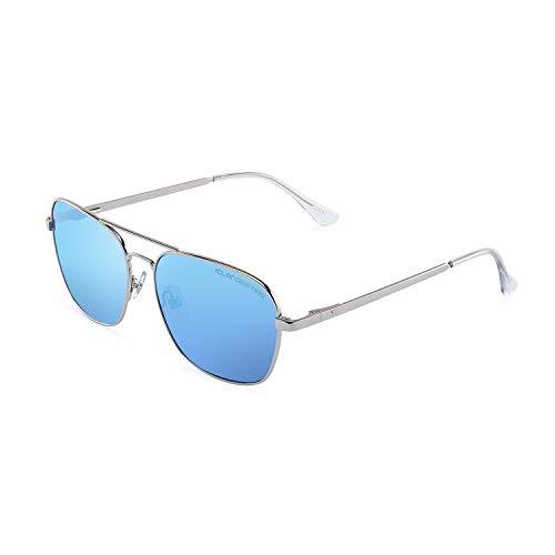 CLANDESTINE B-Pilot 18 Silver Ice Blue - Gafas de sol Nylon HD Hombre & Mujer