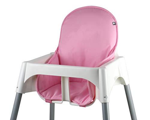 Tinydo® Hochstuhl-Sitzkissen optimal für IKEA Antilop mit Memory-Schaum-Dämpfung Sitzverkleinerer-Auflage für Babystühle rutschfest pflegeleicht (Rosa)