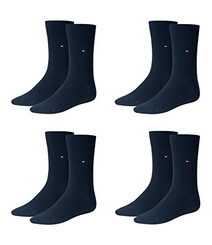 Tommy Hilfiger Herren Classic Business Socken 371111 4 Paar, Farbe:Blau;Sockengröße:39-42;Artikel:Socken dark navy 371111-322