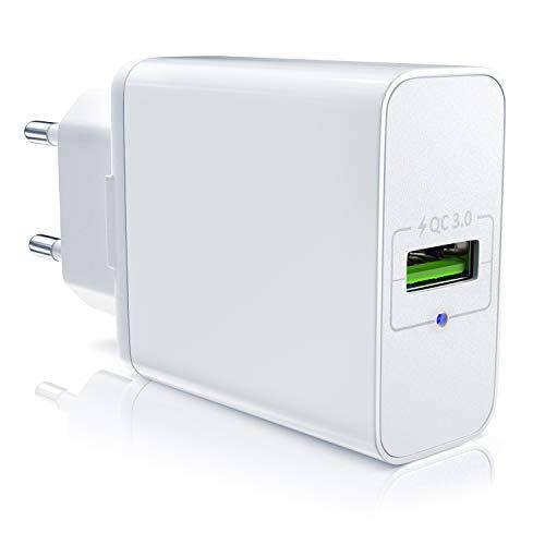 CSL - USB Ladegerät mit Schnellladefunktion - Netzteil mit Quick Charge 3.0 - Smart Charge Solid Charge intelligentes Laden - geeignet für Handys, Smartphones, Tablets UVM.