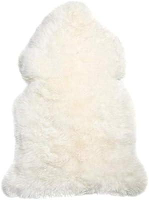 Ivory Large Long Wool Rug - Australian Merino Sheepskin