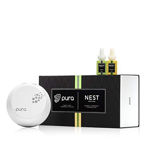 NEST Fragrances Pura Smart Diffuser Device & 2pc Bamboo & Grapefruit
