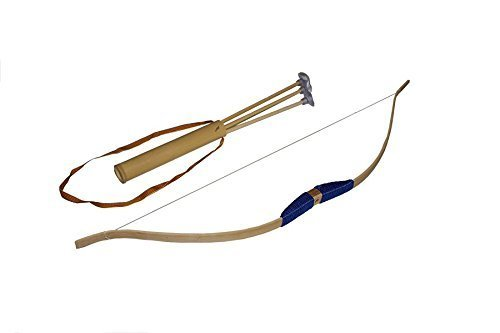 Große Bogen Juguetutto- Spielzeug Seil mit verschiedenen Farben, darunter carcag mit 3 Pfeilen Saugspitze