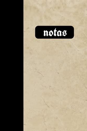 Notas: 6x9 - rayado - cuaderno - diario