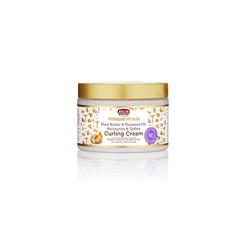African Pride Moisture Miracle Shea Butter & Flaxseed Oil Moisturize & Define Curling Cream
