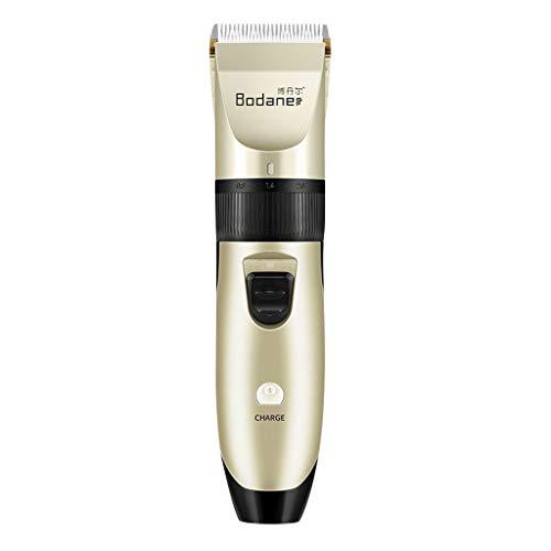 ODJOY-FAN Haarschneidemaschine Profi Haarschneider Herren Elektrische Barttrimmer Bartschneider Haartrimmer Präzisionstrimmer Langhaarschneider Erwachsene Kinder (Gold, 1Set)