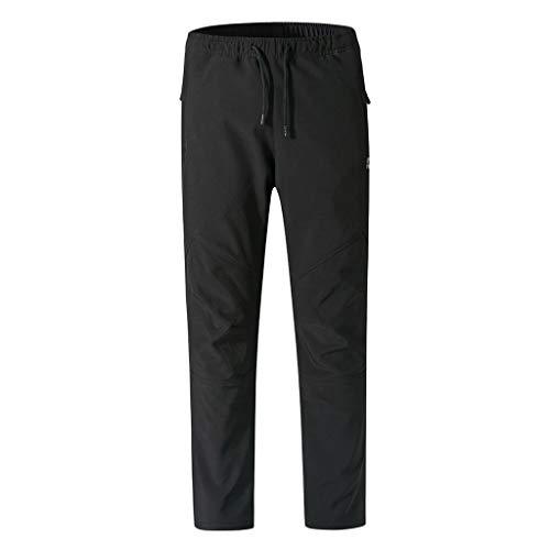 Mannen waterdichte jogger cargo chino jeans broek elastische heupriem met zakken winddicht bergbeklimmen verdikking lange broek X-Large legergroen
