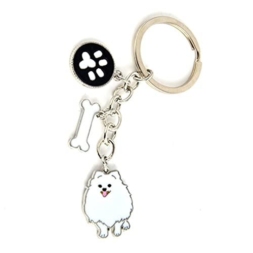 Dog Pendant Key Chains For Women Girls Men Alloy Pet Bag Charm Key Ring Male Female Car Keychain Keyring Jewelry Gift