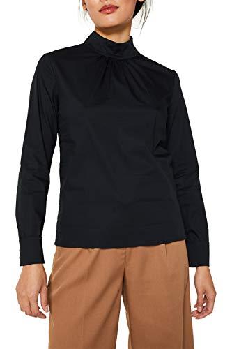 ESPRIT Collection Damen 119EO1F036 Bluse, Schwarz (Black 001), (Herstellergröße: 38)