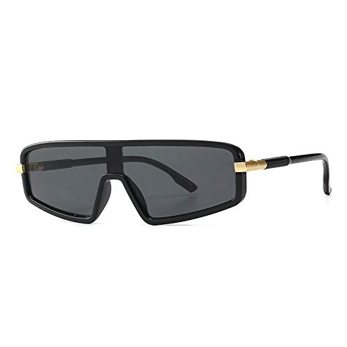 YANPAN Gafas De Sol Retro Modernas con Personalidad Europea Y Americana, Gafas De Sol De Calle De Tendencia Al Aire Libre, Película Gris Negra C1