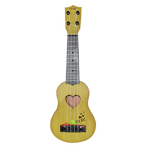Aostuo Beginner Classical Ukulele Guitar Educational Musical Instrument Toy for Kids Best Christmas Gift (Yellow)