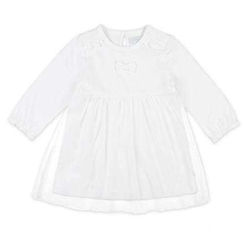Feetje Baby-Mädchen Kleid Langarm mit Rüschen und Tüllrock, Farbe:Weiß, Größe:68