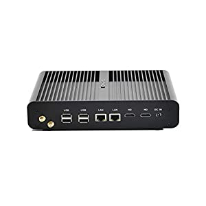 Kingdel Fanless Mini Desktop PC, Intel Haswell i7 4th Generation CPU NUC, 4K HTPC with 4GB RAM, 64GB SSD+500GB HDD, 2*HD, 2*NICs, SPDIF, 4*USB3.0, Wi-Fi, Windows 10 Pro 6