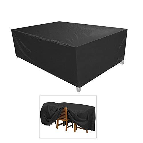 RBH Cubierta de la Mesa de la terraza, 48.4'* 48.4' * 29.1'Cubiertas de Muebles Resistentes al desgarro de poliéster a Prueba de Polvo al Aire Libre a Prueba de Polvo, para sillas de Mesa de jardín