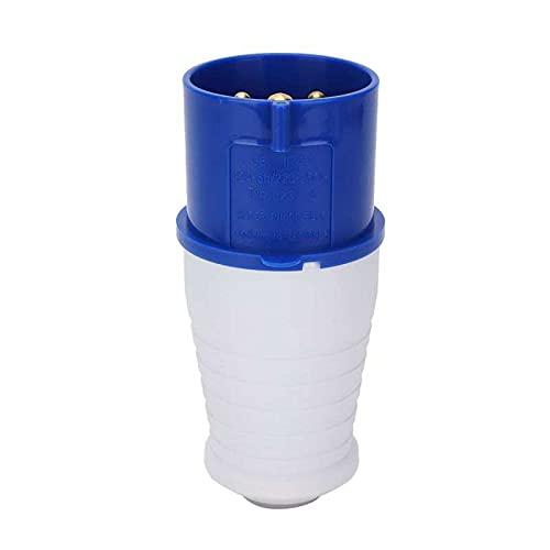 Enchufe de alimentación industrial Socket impermeable monofásico de 3 clavijas 3 2A 220-250V Durable