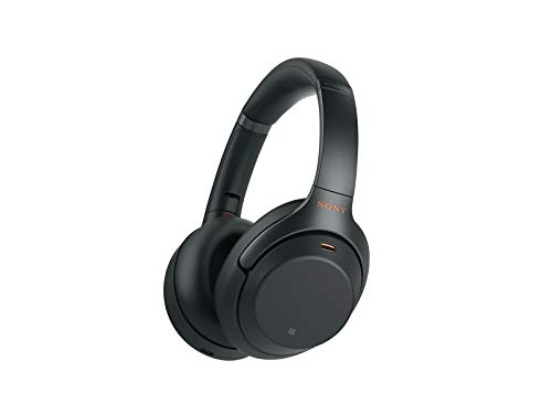 Sony WH1000XM3 Noise Cancelling Headphones, Wireless Bluetooth Over the Ear Headset – Black
