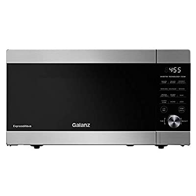 Galanz GEWWD13S1SV11 ExpressWave Sensor Microwave Oven, Patented Inverter Technology, 10 Variable Power Levels, Express Cooking Knob, 1.3 Cu.Ft/1100W, Stainless Steel, Ft