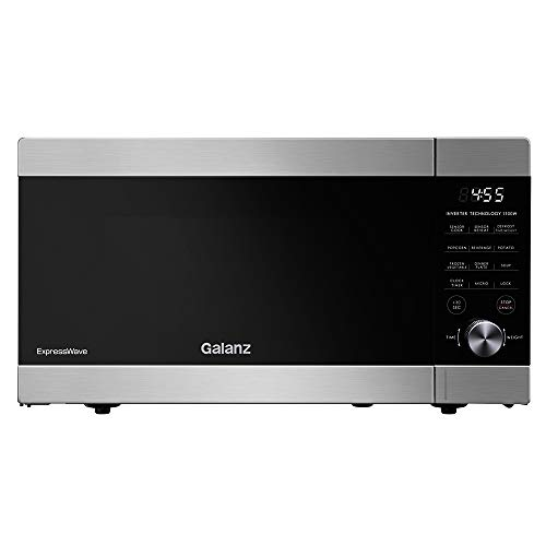 Galanz GEWWD13S1SV11 ExpressWave Sensor Microwave Oven, Patented Inverter Technology, 10 Variable Power Levels, Express Cooking Knob, Stainless Steel, 1.3 Cu Ft