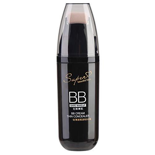 BB Creme, Anti-Aging Feuchtigkeitscreme Concealer mit Scrolling Roller für Gesicht Make-up (Elfenbeinweiße Farbe)