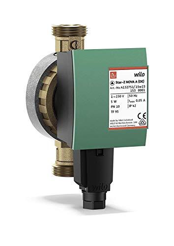 Wilo-Star-Z NOVA A, Hocheffiziente Trinkwasser-Zirkulationspumpe, Nassläufer, Baulänge 138 mm, G1
