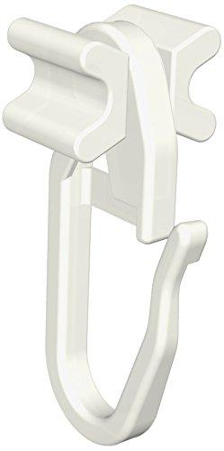 Flairdeco Faltengleiter / X-Gleiter / Gardinengleiter mit Faltenhaken, 6 mm Laufbreite, Plastik, Weiß, 100 Stück