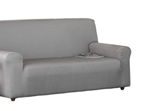 Estoralis Sari Funda de sofá elástica, Tela, Marron, 3 Plazas