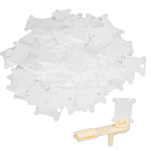 Plástico ecológico de alta calidad, placa de bobinado de 200 piezas, almacena las manualidades de la aguja, organizador de carrete de bobina de hilo