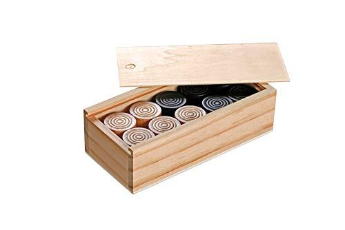 Philos 3052 - Dame und Mühle Spielsteine, 30 mm, Holz