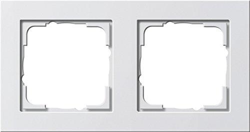 GIRA Serie Standard 55 - reinweiß glänzend (021229) Rahmen 2f reinweiß E2