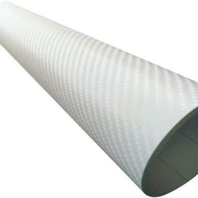 StickersLab plakfolie van koolstofvezel, zelfklevend, wit 4D carbon-look car wrapping zonder thermische luchtbellen 127cm x 500cm