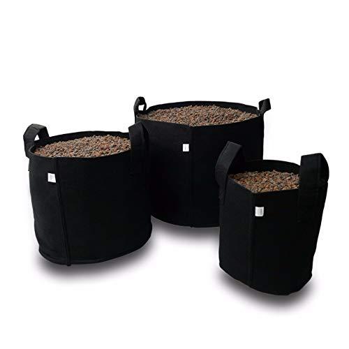 grow-fritz 1x Textil-Blumentopf in schwarz 5 Liter