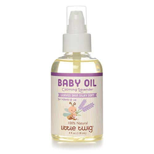 Little Twig All Natural Baby Oil for Sensitive Skin, Lavender - 4 Fluid Oz