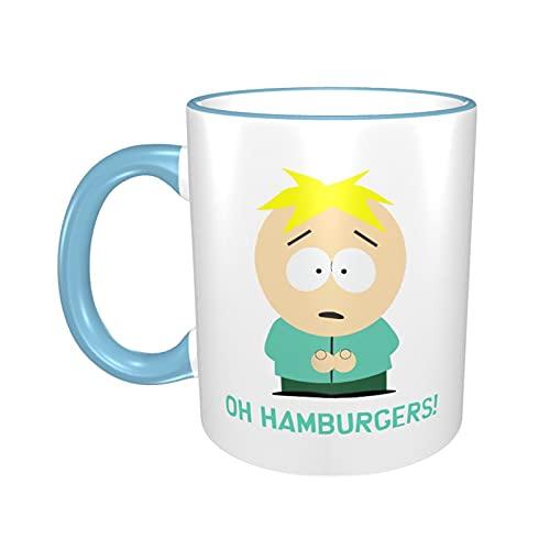 South Park taza de café de cerámica patrón de dibujos animados taza oficina en casa taza de té grande regalo divertido para niño niña hombres mujeres