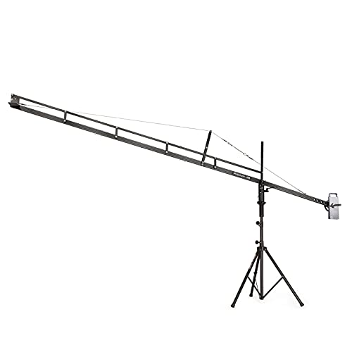 camera mount with js PROAIM 14ft Camera Crane Jib, Tripod Stand (P-14-JS) for DSLR Video BMCC Cameras up to 8kg/17.6lbs Best Travel-Friendly Jib with Carrying Bag